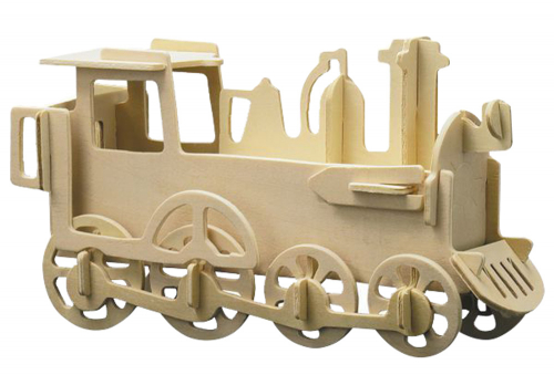 Holzbausatz Lokomotive.