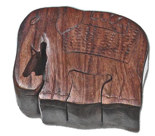 Holzpuzzle Elefant.