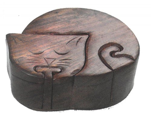 Holzpuzzle Katze.