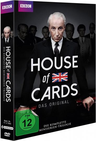 House of Cards (1990) (Komplette Mini-Serien Trilogie). 6 DVDs.