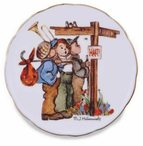 Hummel-Wandteller »Wanderfreunde«, klein.