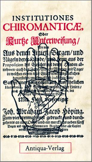 Institutiones Chiromanticae - Faksimiledruck von 1689