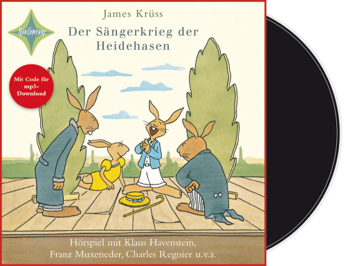 James Krüss. Der Sängerkrieg der Heidehasen. Vinyl-LP. Mit Code für mp3-Download.