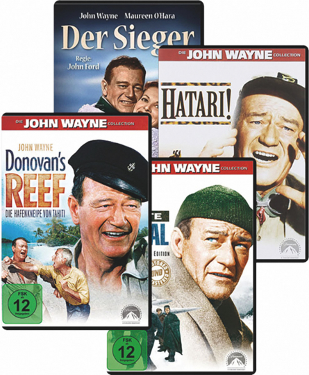 John Wayne - Spielfilm Paket. 4 DVDs.