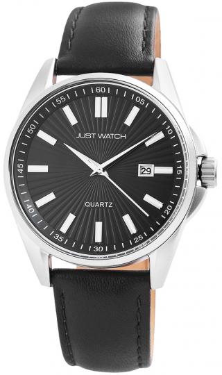 Justwatch Armbanduhr schwarz / silber