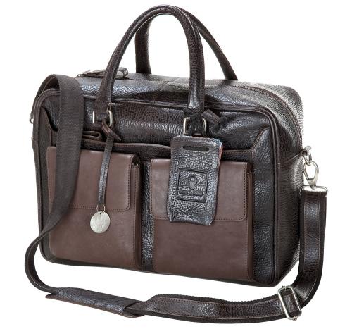 Kleine Reisetasche, hellbraun/dunkelbraun.