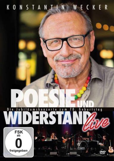 Konstantin Wecker. Poesie und Widerstand live - Die Jubiläumskonzerte zum 70. Geburtstag. 3 DVDs.