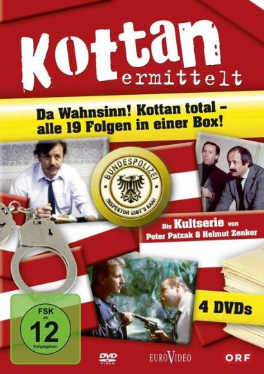 Kottan ermittelt (Komplette Serie). 4 DVDs.