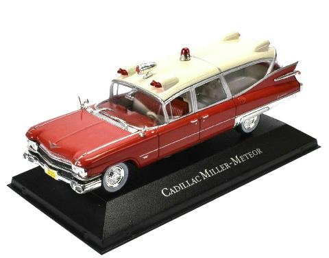 Krankenwagen Miller Meteor 1959, rot-weiß - Modell 1:43