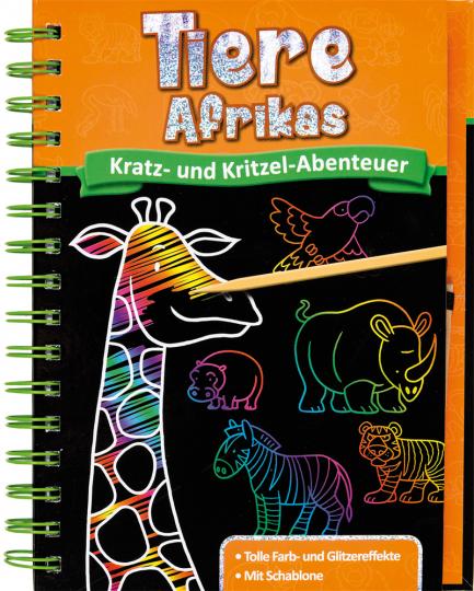 Kratz- und Kritzel-Abenteuer. Tiere Afrikas.