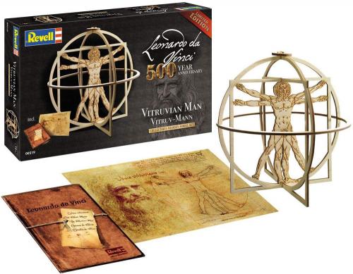 Leonardo da Vinci. Vitruv-Mann. Holzbausatz.