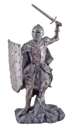 Lilienritter mit Schwert und Schild