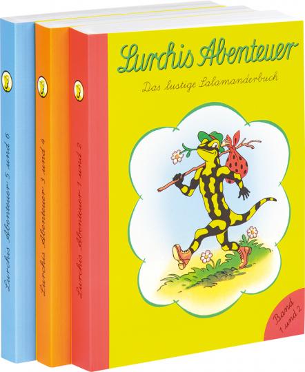 Lurchis Abenteuer. Das lustige Salamanderbuch. Alle drei Doppelbände im Set.