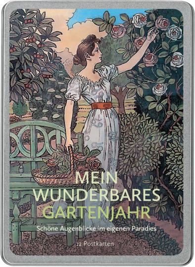 Mein wunderbares Gartenjahr. Schöne Augenblicke im eigenen Paradies. Postkarten-Set.