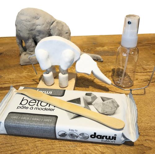 Modellier-Set »Elefant« nach Rembrandt Bugatti.