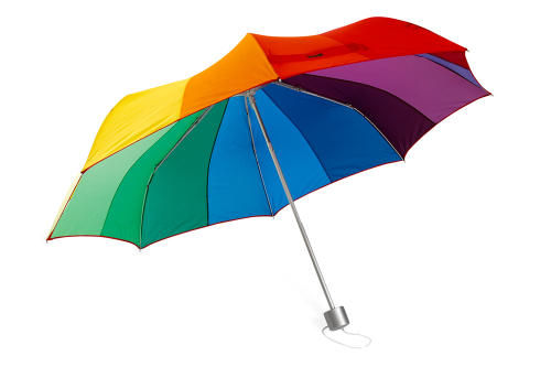 MoMA-Taschenschirm »Regenbogen«.