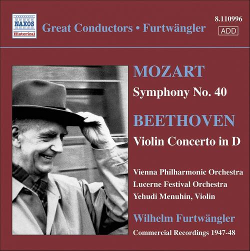Mozart: Symphonie Nr. 40, Beethoven: Violinkonzert op. 61 CD