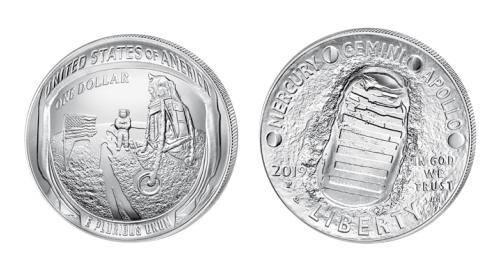 Münze 1 Dollar Mondlandung