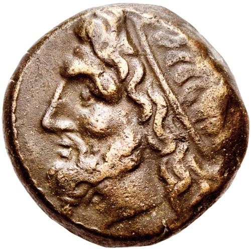 Münze Poseidon Bronze alt 274-216 v. Chr.