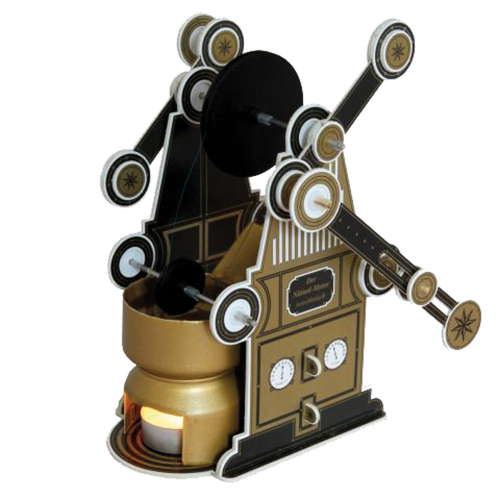 Kartonbausatz Nitinol-Motor.