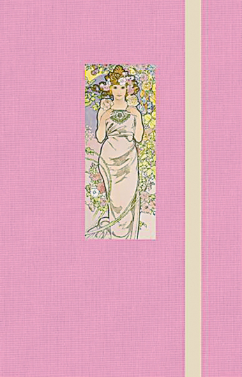 Notizbuch Mucha Rose