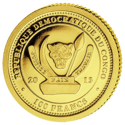 Original Goldmünze Nashorn 2013