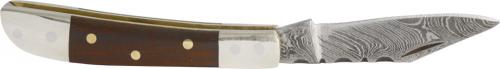 Palisander Damast Taschenmesser mit Etui