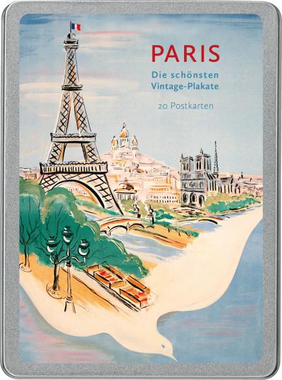 Paris. Die schönsten Vintage-Plakate. Postkarten-Set.