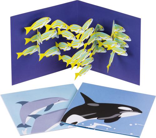 Pop-up-Grußkarten-Set »Das Meer«.