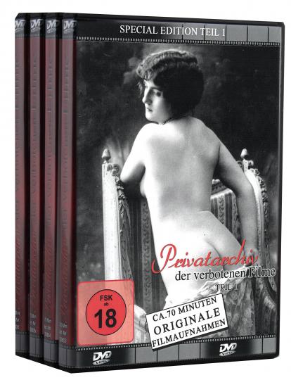Privatarchiv der verbotenen Filme - Teil 1-4. 4 DVDs.