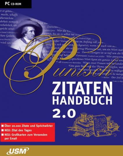 Puntsch Zitatenhandbuch 2.0 - 20.000 Zitate und Sprichwörter CD-ROM
