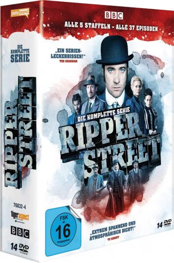 Ripper Street (Komplette Serie). 14 DVDs.
