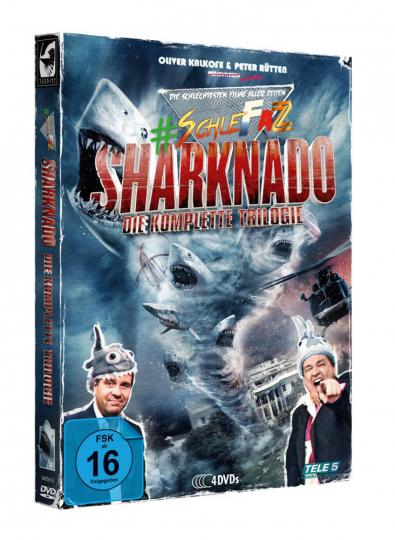 SchleFaZ - Sharknado: Die komplette Trilogie. 4 DVDs.