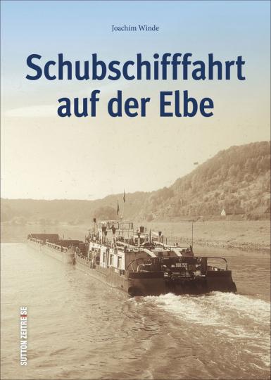 Schubschifffahrt auf der Elbe.