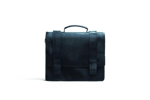 Schwarze Aktentasche, groß.