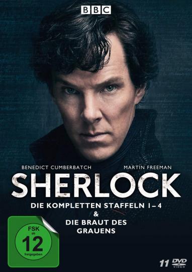 Sherlock Staffel 1-4 & Die Braut des Grauens. 11 DVDs.