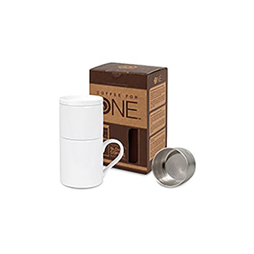 Kaffeetasse mit Filteraufsatz.