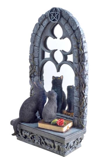 Spiegel »Katzen vor gotischem Fenster«.