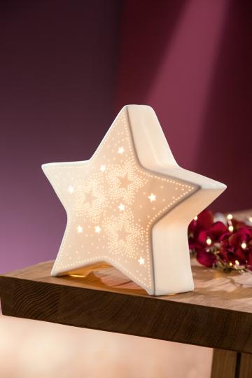 Sternlampe Porzellan LED