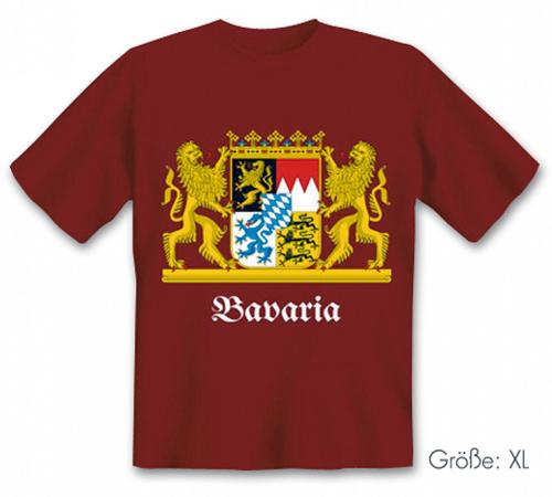 T-Shirt Bavaria-Wappen, Größe XL.