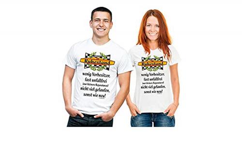 T-Shirt 'Vorbesitzer Ruhestand' - Größe L