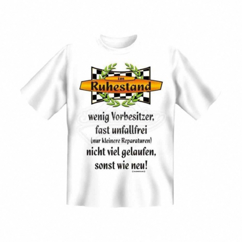 T-Shirt 'Vorbesitzer Ruhestand' - Größe M