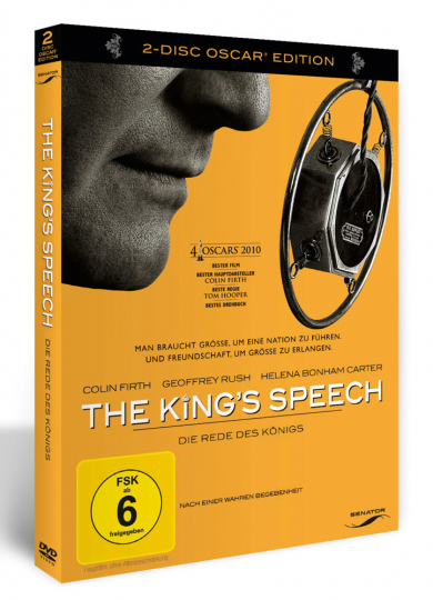 The King's Speech (Special Edition). 2 DVDs.