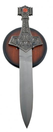 Thorhammer Dolch mit rotem Stein