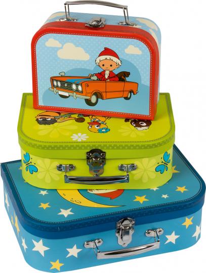 Unser Sandmännchen. Drei Kinderkoffer mit wunderschönen Motiven.
