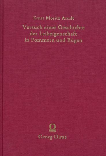 Versuch einer Geschichte der Leibeigenschaft in Pommern und Rügen