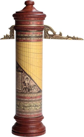 Vertikale zylindrische Sonnenuhr.
