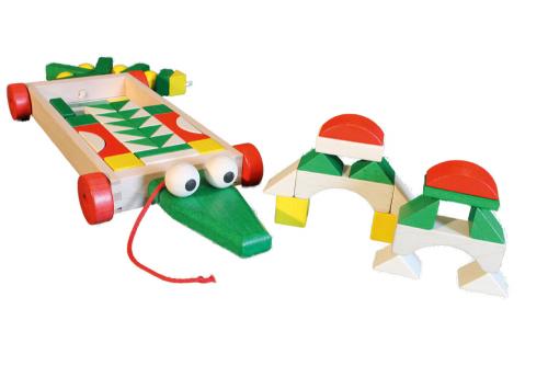 Wagen mit Bausteinen »Krokodil«.