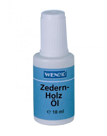 Zedernholz-Öl.