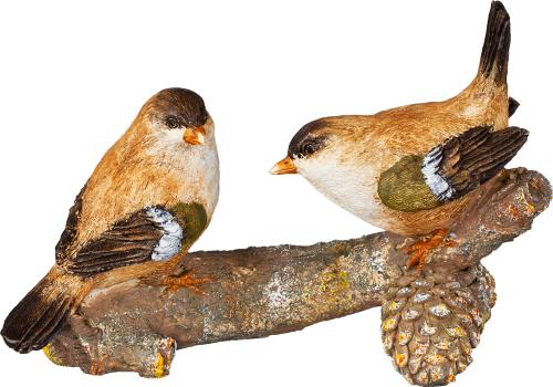 Zwei Vögel auf dem Ast.